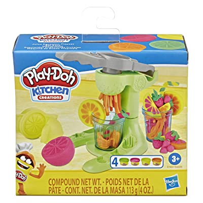 Play-Doh Kitchen Creations Juice Squeezin' Toy Juicer for Kids 3 Years and Up with 4 Non-Toxic Colors: Toys & Games
