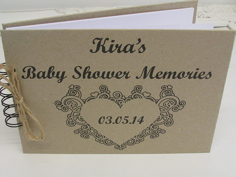 Personalised Handmade Baby Shower Journal Guest Bookmemory Book