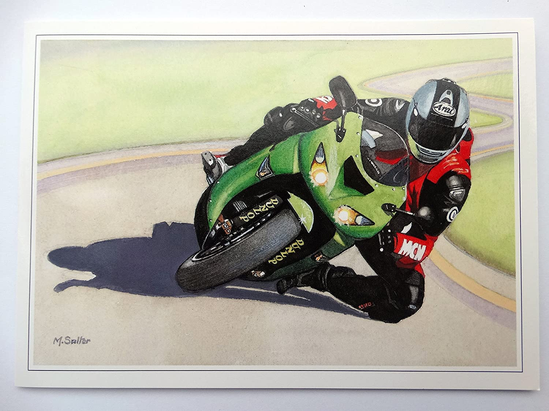 Nostalgic Kawasaki ZX-10R Ninja (2006) moto diseño abierto ...