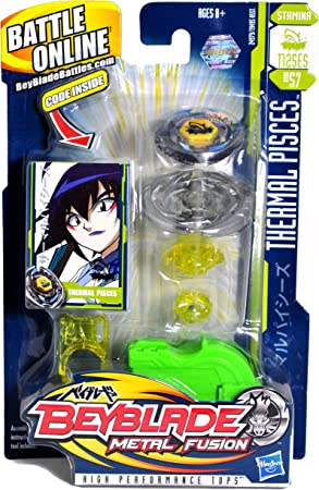 Beyblade Metal Masters 1 Pack Thermal Pisces Kreisel Mit Launcher Amazon De Spielzeug