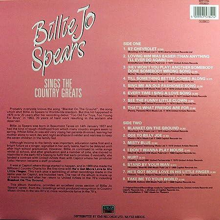 Billie Jo Spears Billie Jo Spears Sings The Country Greats