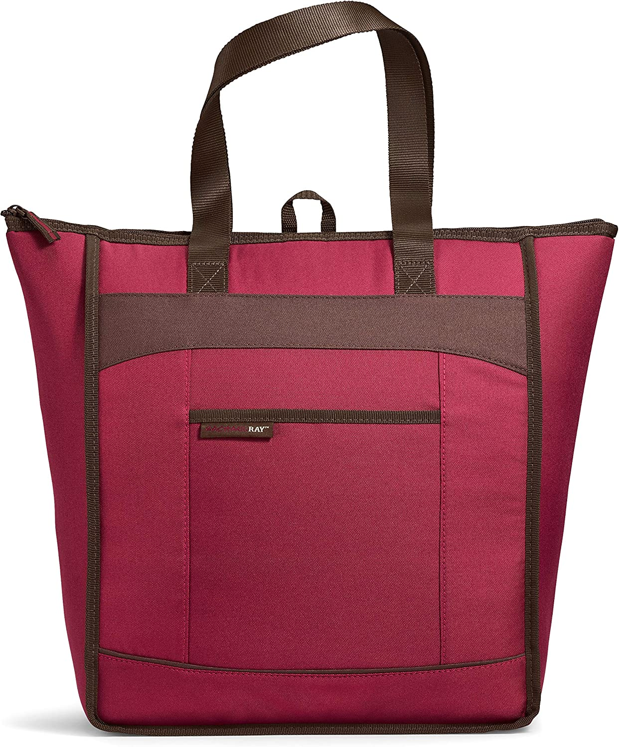 "Rachael Ray, Burg ChillOut Thermal Tote Bag for Cold or Hot Food, Insulated, Reusable, Burgundy, 18.5"" X 6"" X 16.5"