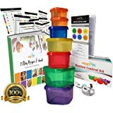 smartYOU 7 Piece Portion Control Containers Kit (COMPLETE GUIDE + FREE 21 DAY PDF PLANNER + RECIPE E-BOOK + BODY TAPE MEASURE included) - Leak proof, Perfect Size, Color-coded
