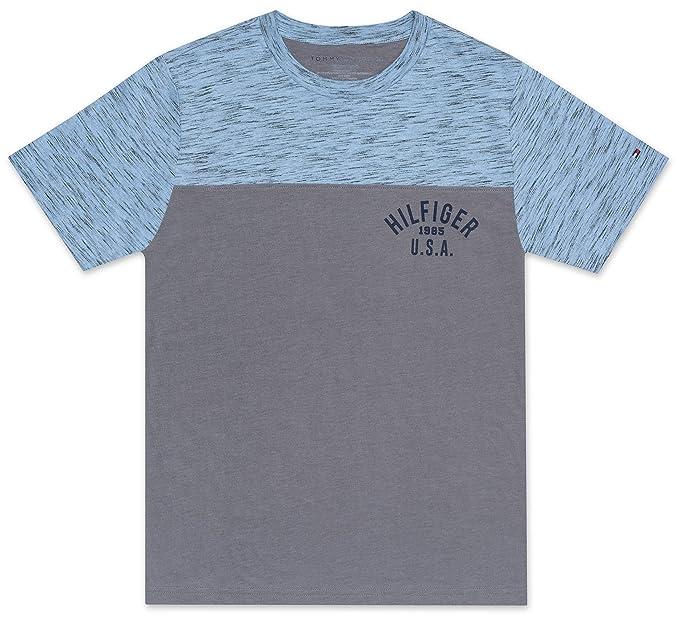 7b8560e65068 Amazon.com  Tommy Hilfiger Boys  Colorblock Logo Tee Shirt  Clothing