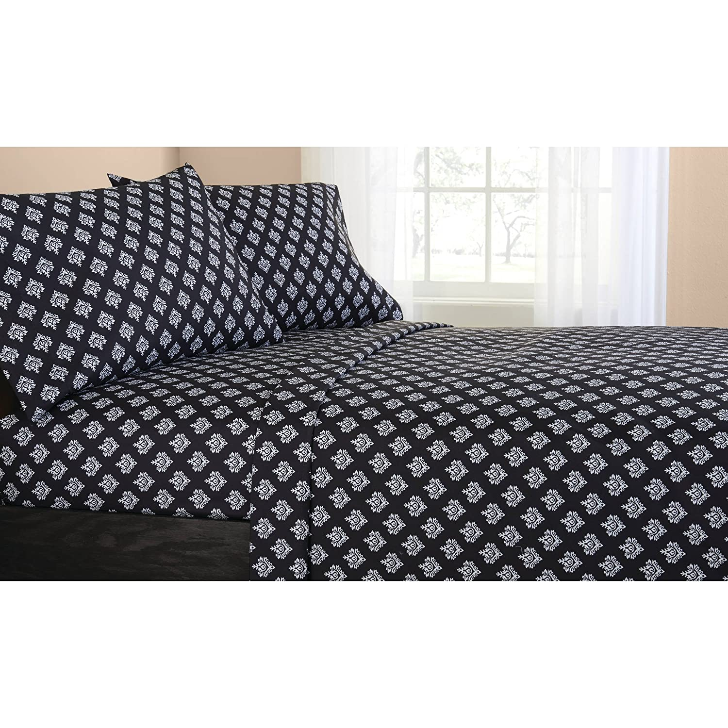 Mainstays Classic Noir Bed In A Bag Bedding Set, FULL