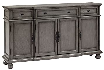 Amazon.com: Coast to Coast 67450 Three Drawer Four Door ... on consoles and credenzas, made in usa modern credenzas, country style credenzas, modern sideboards with sliding door, modern sideboards and hutches, industrial modern credenzas, post modern credenzas,