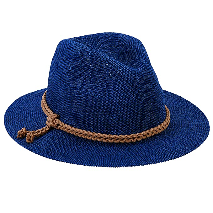 366c94f6979 San Diego Hat Company Women s Fedora with Faux Suede Braided Band ...