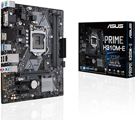 ASUS Prime H310M-E LGA1151 (300 Series) DDR4 HDMI VGA mATX Motherboard (PRIME H310M-E)