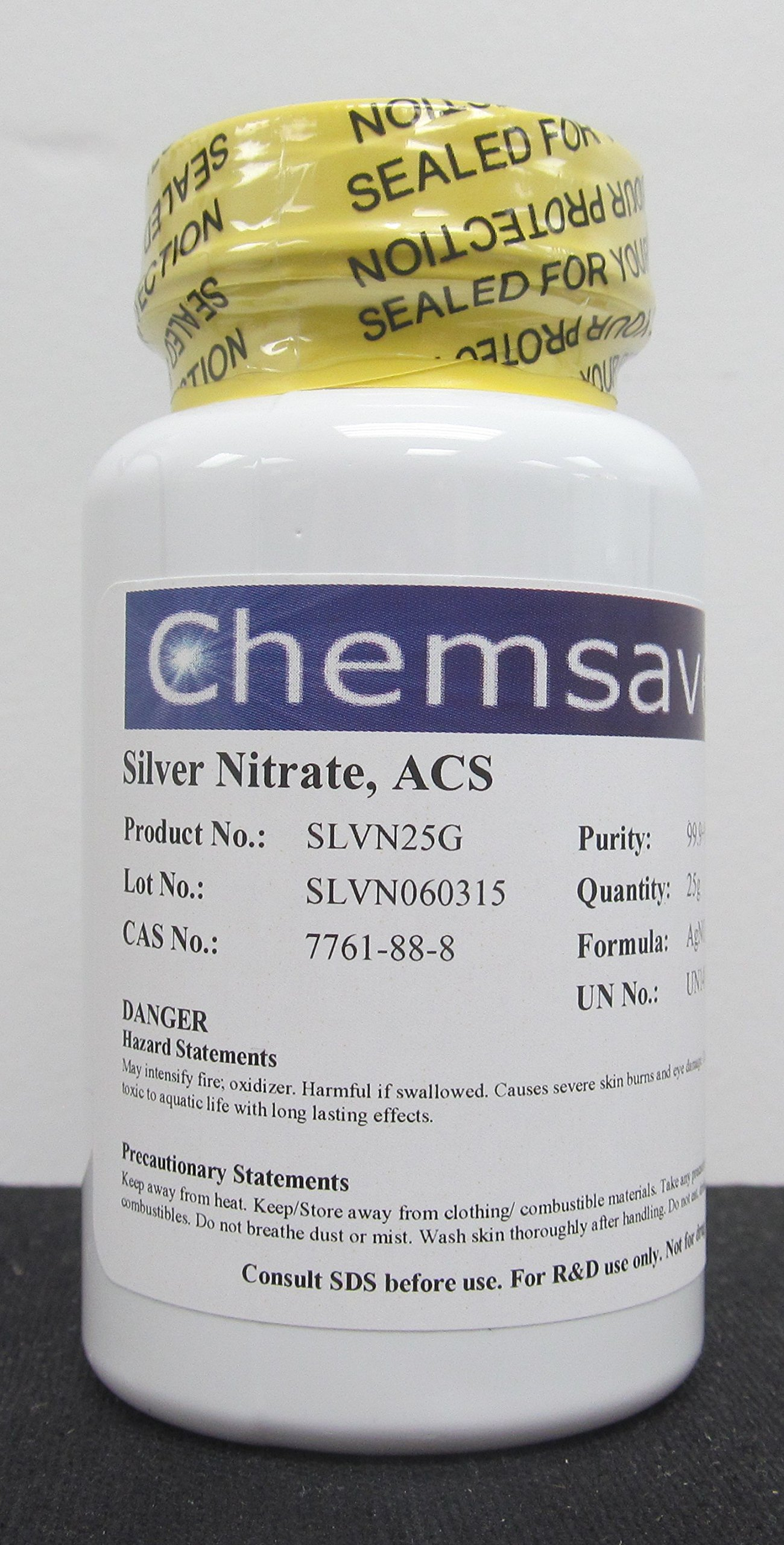 Silver Nitrate, ACS, 99.9+%, 25g
