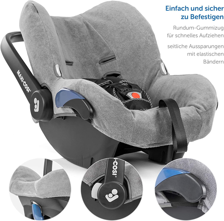 Ajuste Perfecto Asiento Coche Grupo 0+ Maxi-Cosi Citi //Citi SPS Gris tejido de malla 3D transpirable Zamboo Funda de Verano Maxicosi reduce la sudoraci/ón y protege la silla