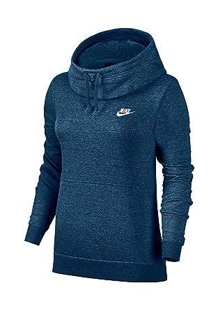 7df0db4d8d02 Amazon.com  Nike Women s Funnel-Neck Fleece Sweatshirt Hoodie (Small ...