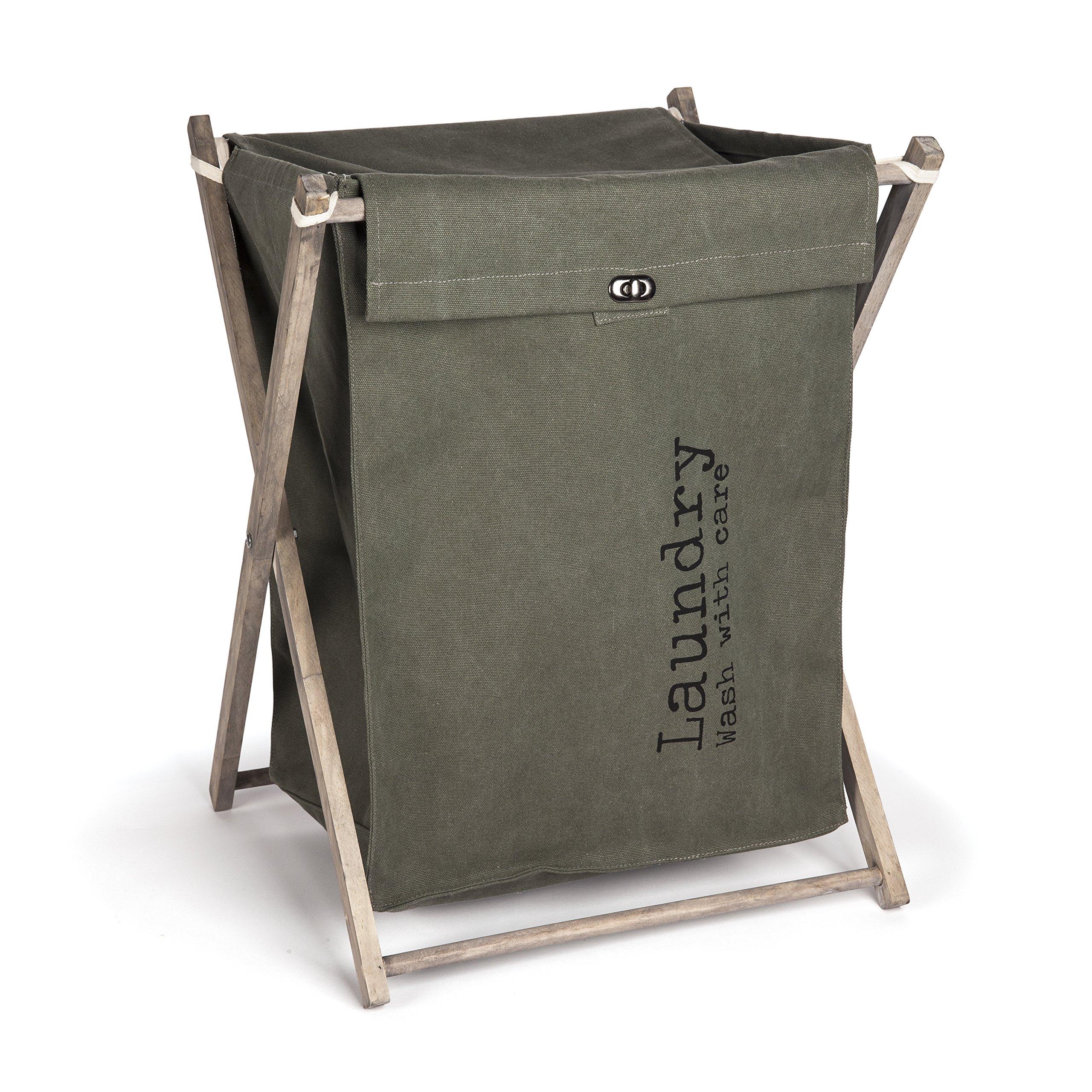 Danya B. Army Canvas Folding Laundry Hamper