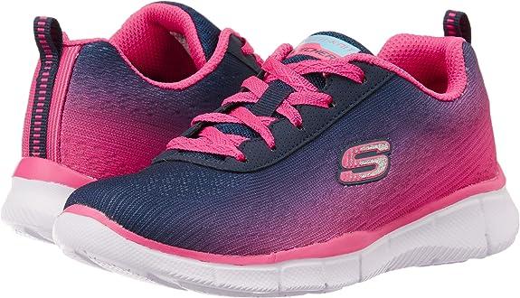 Skechers Equalizer - Zapatillas de Running de sintético para niña Azul Azul 17: Skechers: Amazon.es: Zapatos y complementos