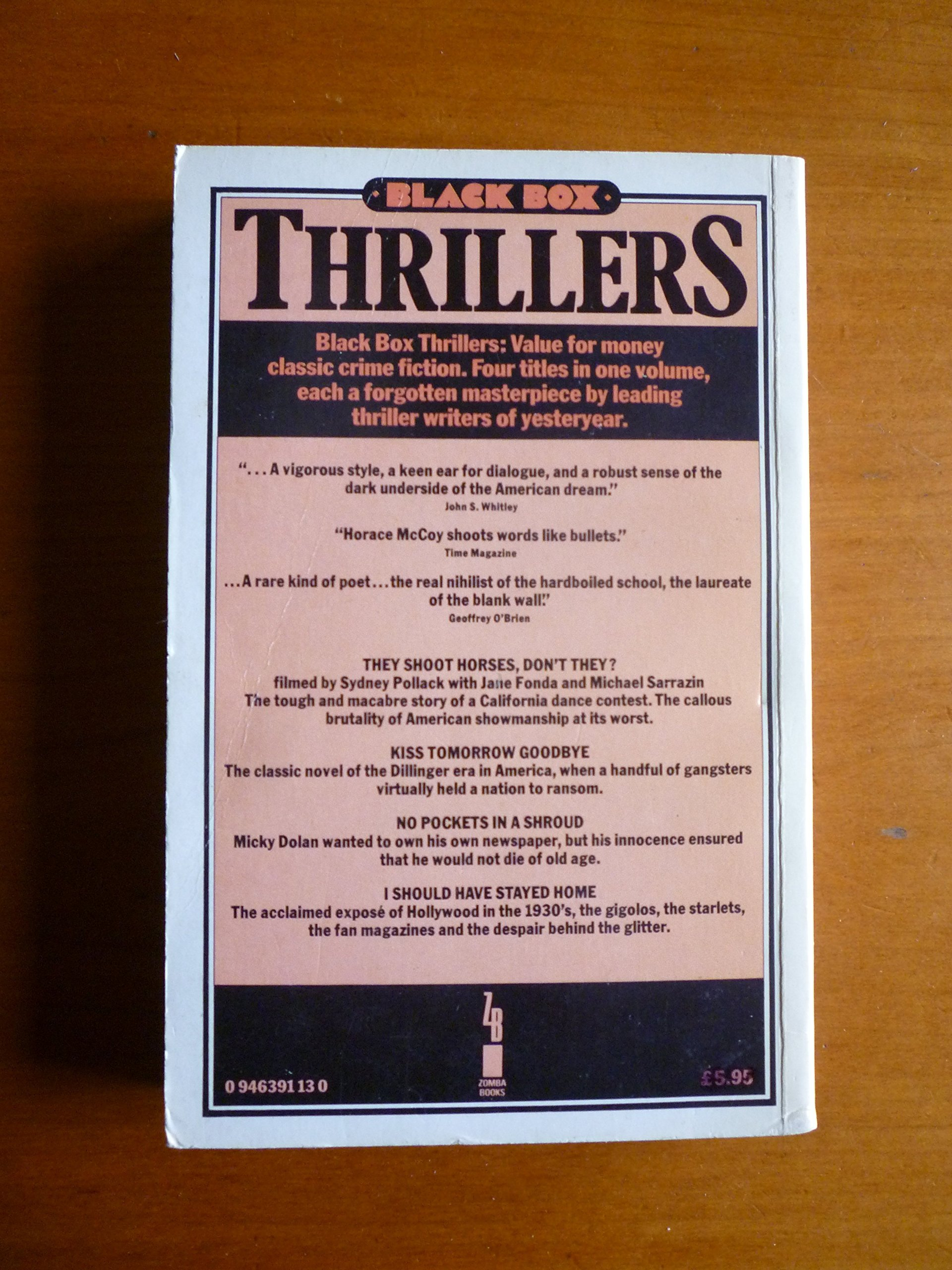 Thrillers: Horace McCoy: 9780946391134: Amazon com: Books