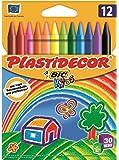Bic Plastidecor - Ceras de colores clásicos, pack de 12