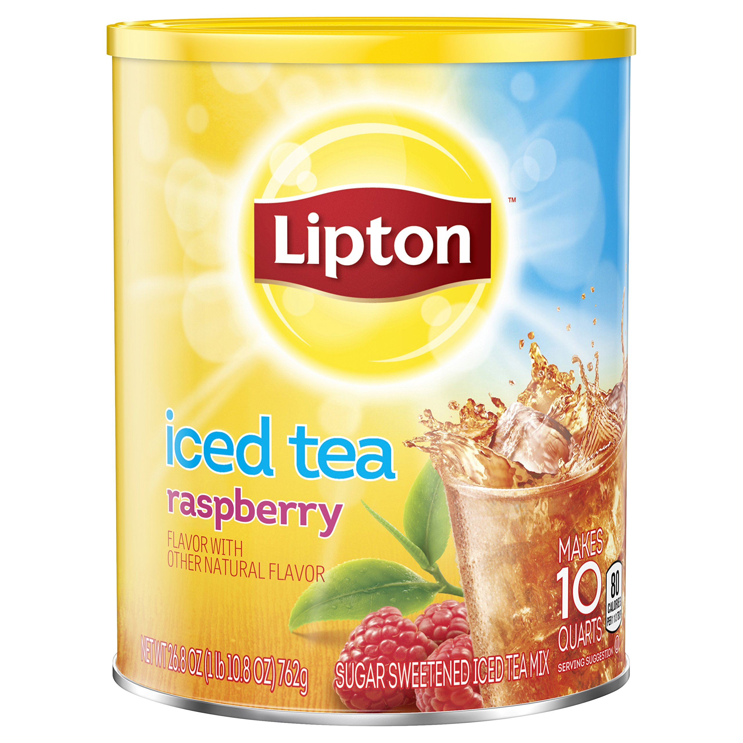 Lipton Iced Tea Mix, Raspberry 10 qt, (Pack of 6)