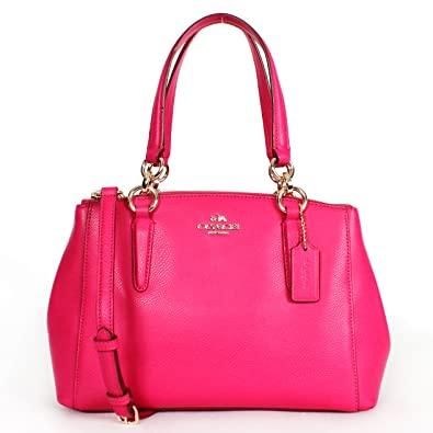f847dd83293b Amazon.com  Coach F36704 Pink Ruby Mini Christie Carryall in Crossgrain  Leather  Shoes