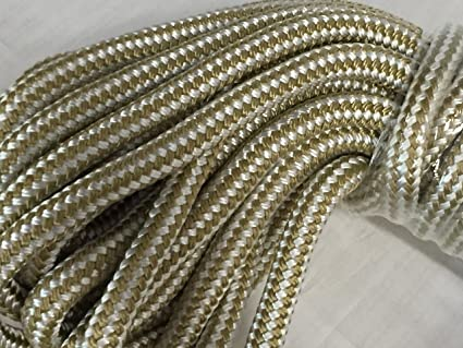 5/8 Inch by 100 Feet Gold Double Braid Nylon Rope