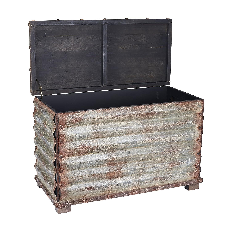 Amazon Household Essentials Vintage Metal Storage Trunk