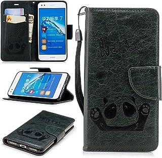 BONROY Housse Huawei P9 Lite Etui en PU Cuir Portefeuille Coque Protection pour Huawei P9 Lite / P9 Mini Case avec Fonction Support Stand - (Mandala graduel HX)
