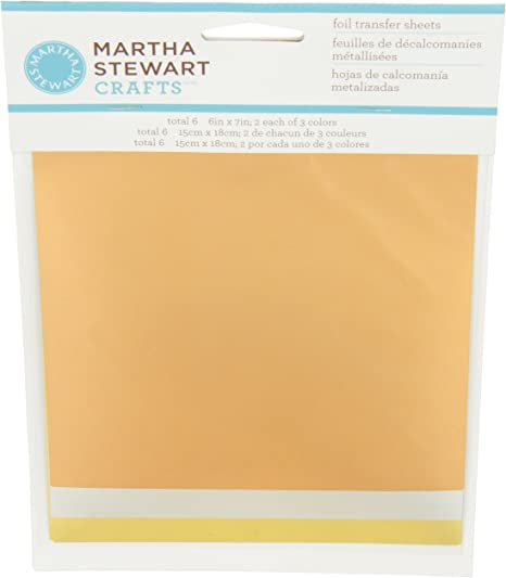 Martha Stewart Crafts Foil Transfer Sheets Add Metallic Sheen Choose Your Set