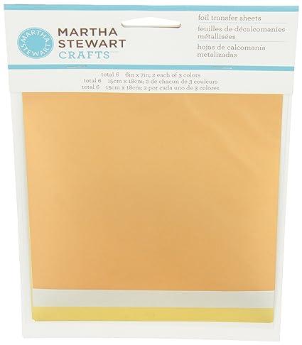 Amazon Martha Stewart Crafts Foil Sheets 6 By 7 Inch 32208