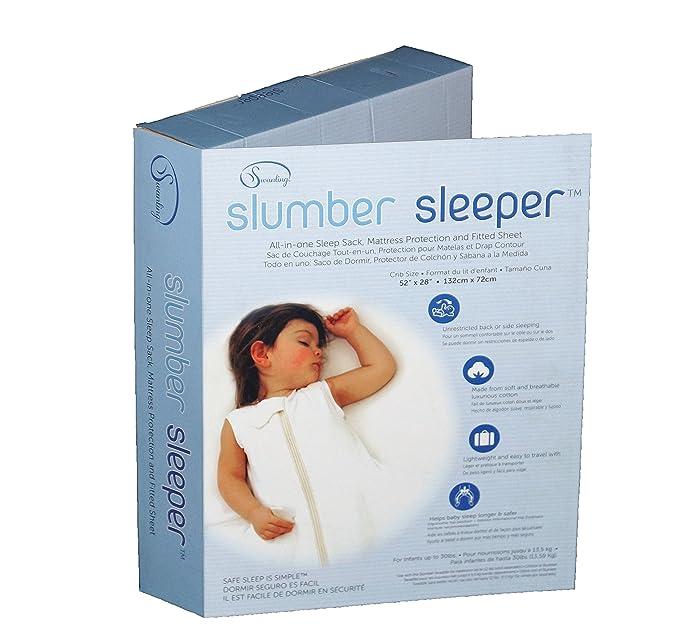Amazon.com: Slumber Sleeper Cuna Tamaño en algodón/spandex ...