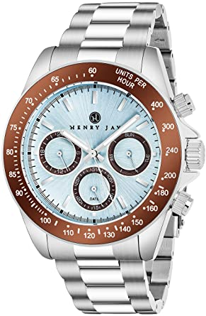d157ca11581 Buy Henry Jay Mens Stainless Steel Multifunction