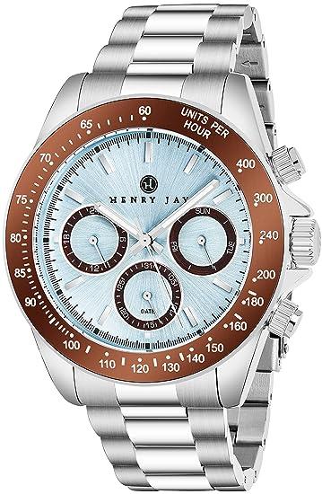 """Henry Jay - Reloj para hombre multifunción, de acero inoxidable """"Speciality Aquamaster"""""""