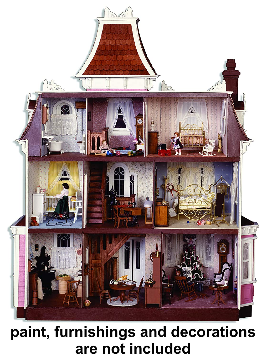 Greenleaf Dollhouse Kit Beacon Hill Arts Crafts Sewing Wiring Supplies