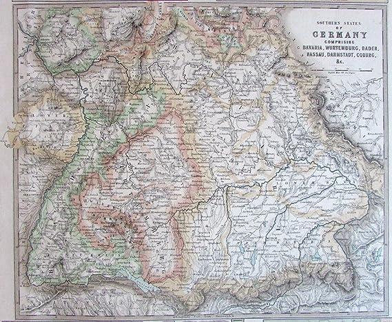 Amazon Com Southern Germany Munich Nuremberg Frankfort C 1860