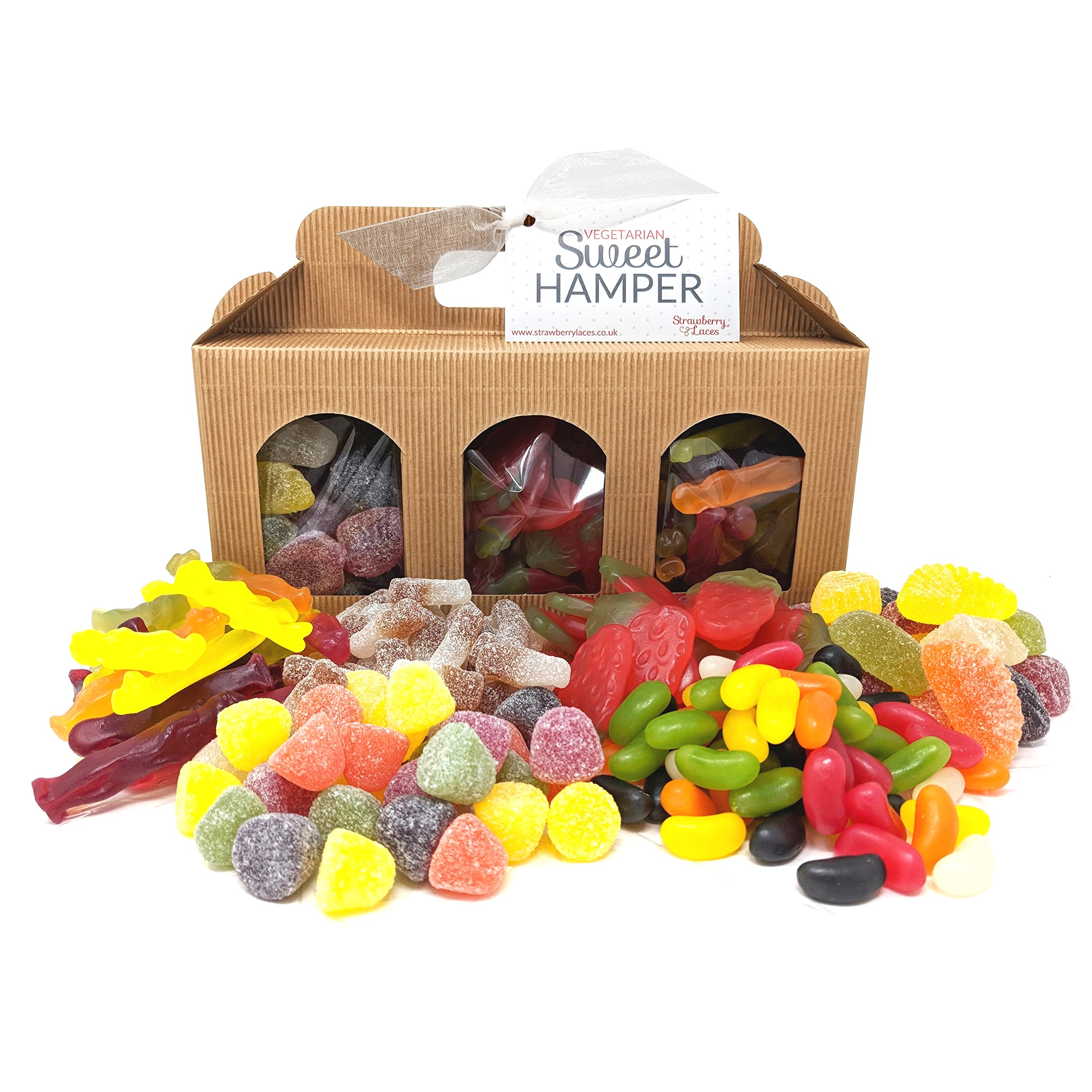 Vegan sweets amazon vegetarian sweet hamper box great vegetarian gift for birthday easter valentines mothers negle Image collections