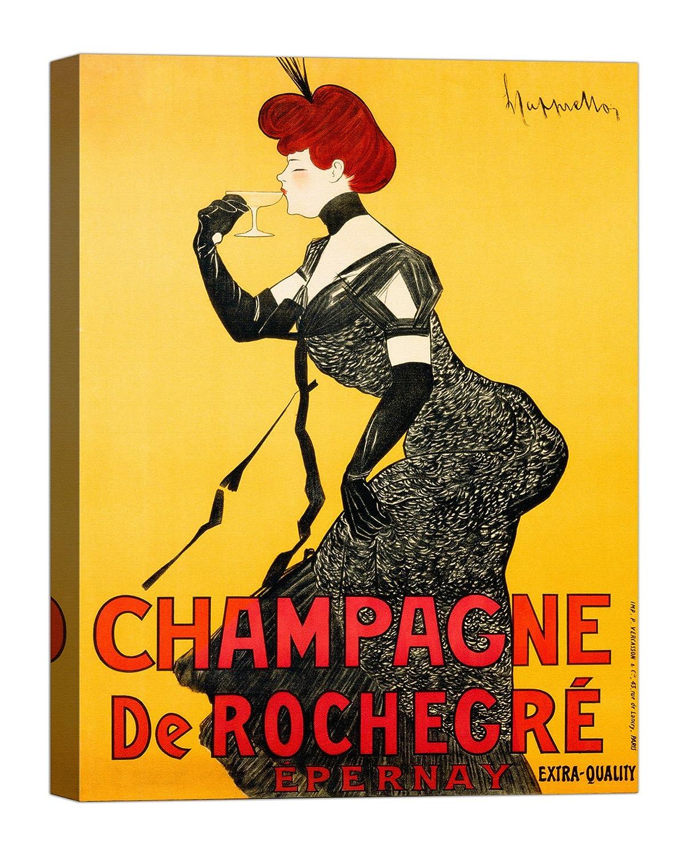 Rahmen Druck auf Leinwand mit Keilrahmen Leonetto Cappiello Champagne de Rochegré, ca. 1902 120x90 CM B07BT7GQNP | Angemessene Lieferung und pünktliche Lieferung
