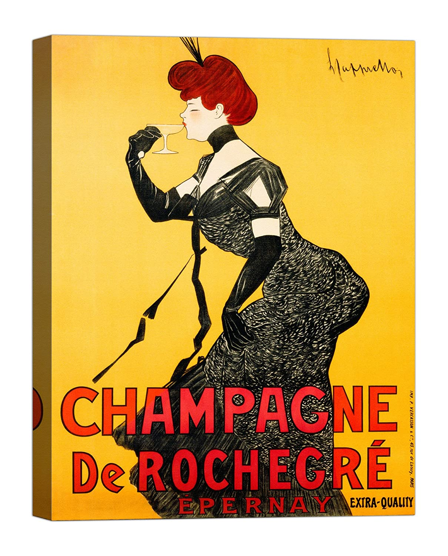 Rahmen Druck auf Leinwand mit Keilrahmen Leonetto Cappiello Champagne de Rochegré, ca. 1902 120x90 CM B07BTB59GZ | Elegantes und robustes Menü
