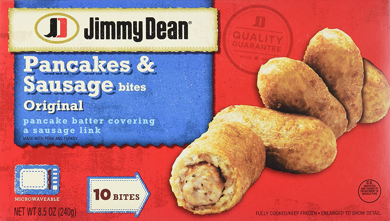 Jimmy Dean Pancake Sausage Bites Original 10 Count Frozen