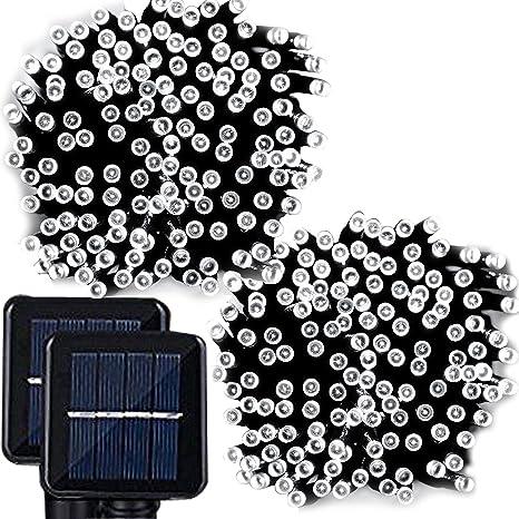 Amazon lemontec solar string lights 200 led holiday string lemontec solar string lights 200 led holiday string lighting outdoor solar patio lights fit chrismas workwithnaturefo