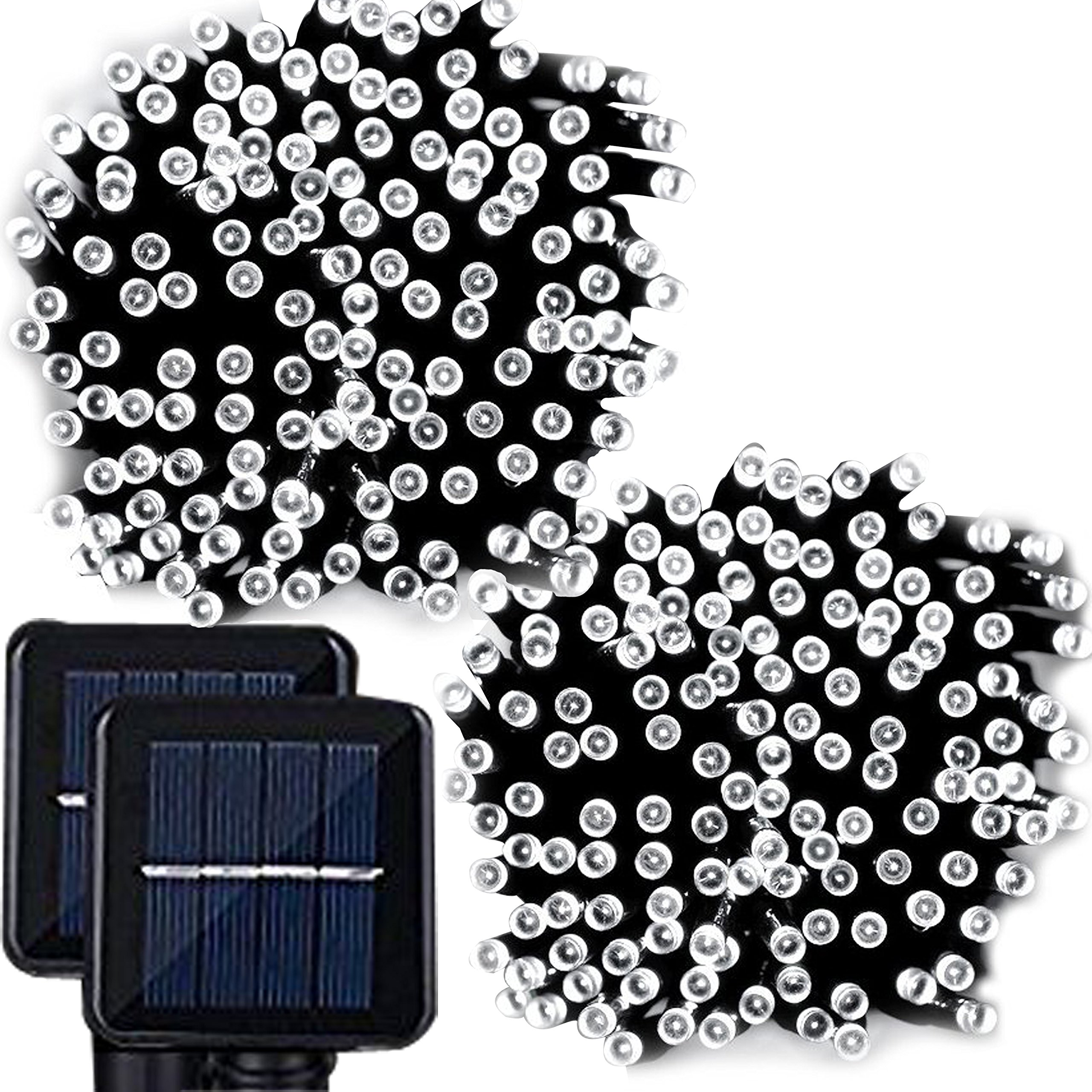 Lemontec 200 Led String Lighting Outdoor Solar 2-Pack Auto On/Off