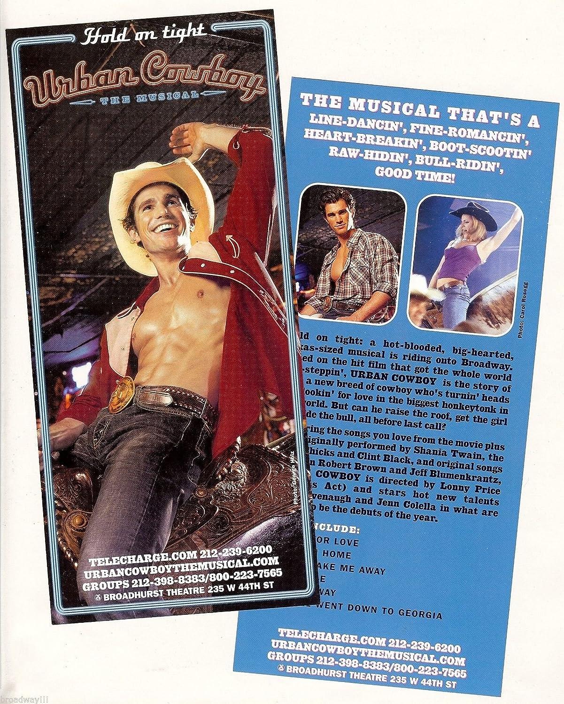 Matt Cavenaugh 'URBAN COWBOY' (Musical) Jason Robert Brown 2003 FLOP Flyer
