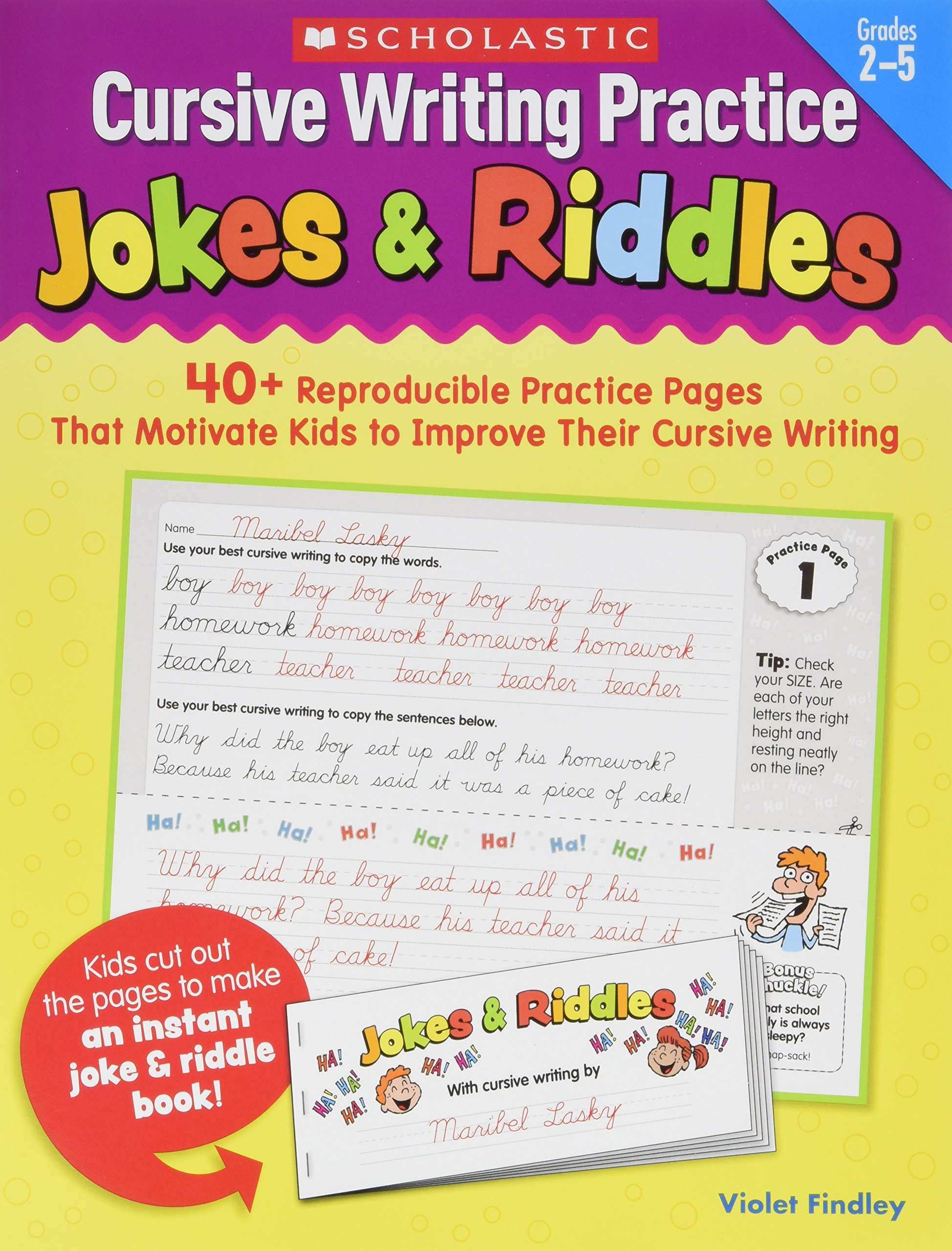 jokes and riddles cursive writing for kids