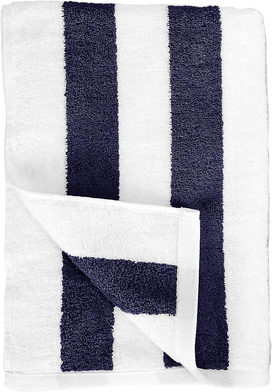 Yellow Pack of 2 Basics Cabana Stripe Beach Towel