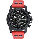 Mens Pilot Strap Watch