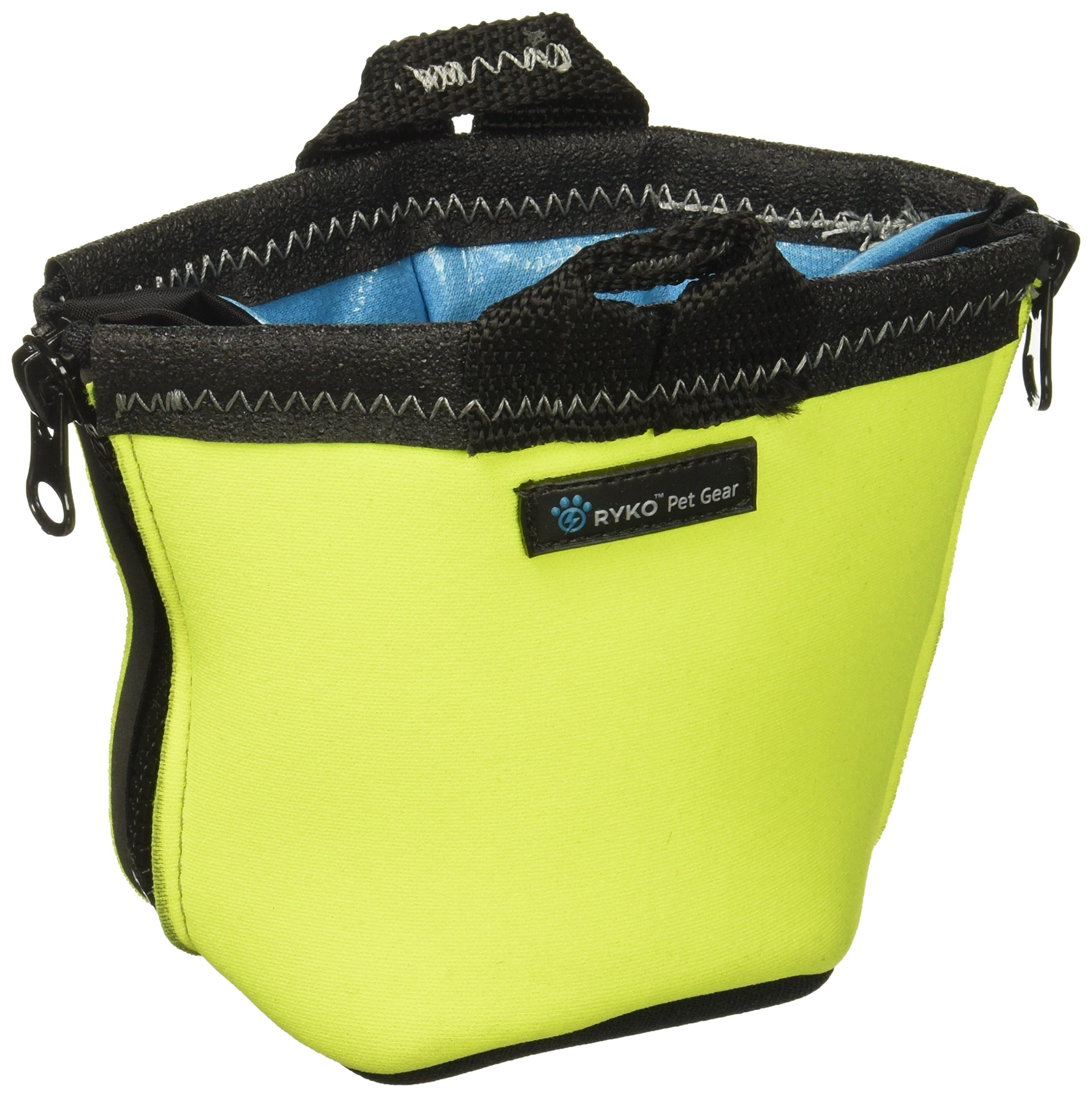 PaxBowl Portable Dog Bowl Fits Nalgene and HydroFlask Travel Outdoors for Hiking Hydration and Insulation, Collapsible, BPA Free Leak Free Liner, fits 32-40oz Water Bottles, RYKO Pet Gear (Yellow)