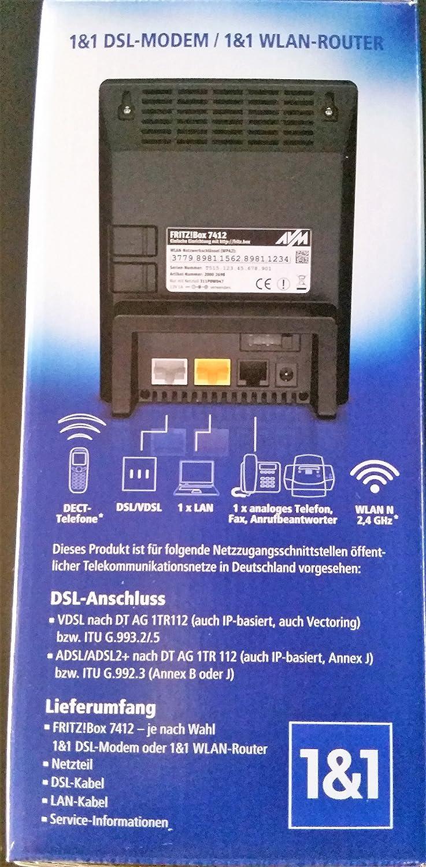 Fritzbox 7412 von 1&1 DSL MODEM / WLAN ROUTER: Amazon.de: Computer ...