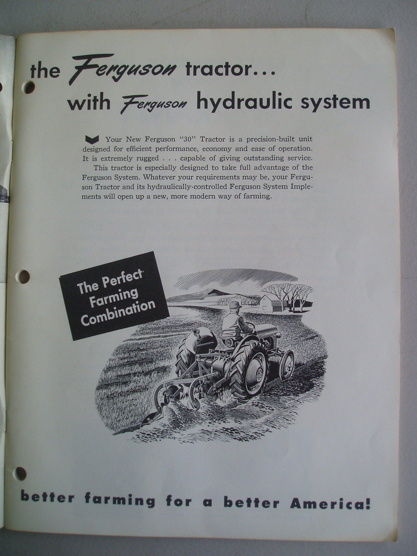 Ferguson T030 Owner\'s Manual (Ferguson \