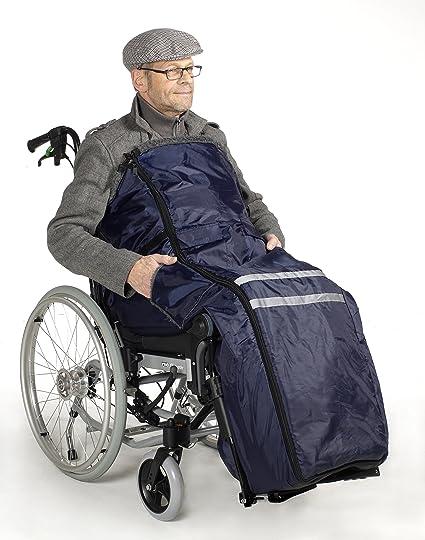 térmica – Silla saco azul forrado con pelo. Incluye bolsillo lateral