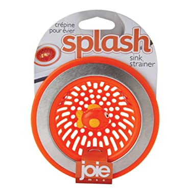 MSC International 77019 Joie Splash Kitchen Sink Strainer Basket, 4.5-Inch, Orange