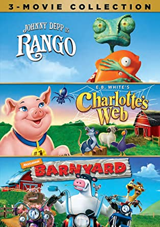 Rango Charlottes Web Barnyard 3 Movie Collection