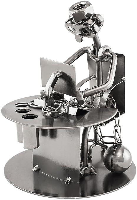 6 opinioni per BRUBAKER portapenne da scrivania- scultura in metallo schiavo del lavoro