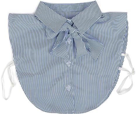 styleBREAKER Blusenkragen Einsatz mit Knopfleiste und Schleife, Kragen für  Blusen und Pullover, Schluppenbluse, c21c6f35d1