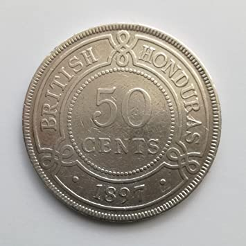 Plata de Ley corona Colonia British Honduras Victoria 50 ...